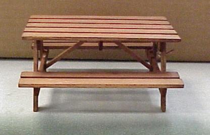 dollhouse outdoor furniture. WED-3 Dark Picnic Table. \ Dollhouse Outdoor Furniture
