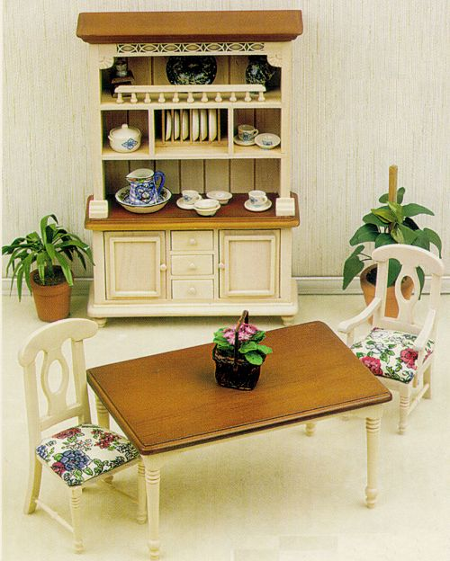 Dollhouse Broy Hill Dining Room Furniture From FINGERTIP FANTASIES Dollhouse  Miniatures