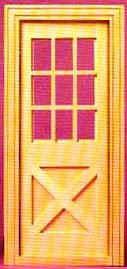 Cross Buck Exterior Door