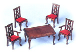 FS02 - 5 Piece 1/24th Dining Room Set