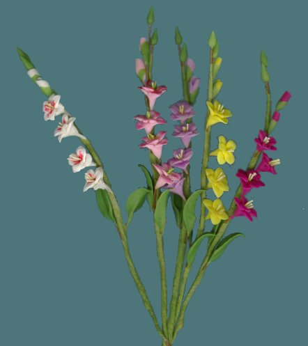 Dollhouse Miniature Gladiolus From Fingertip Fantasies