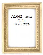 Miniature Gold Picture Frames For Your Dollhouse From Fingertip