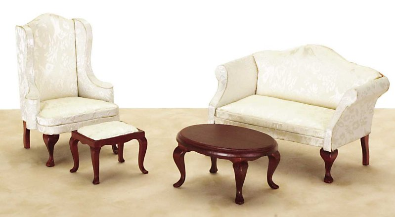 Living Room Set - Dollhouse Living Room Furniture In 1