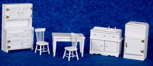 White Dollhouse Kitchen Furniture In 1 Quot Scale