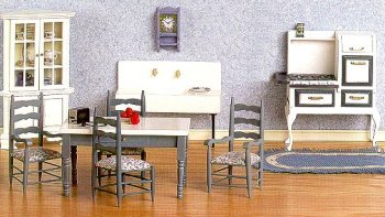 Dollhouse Diningroom Furniture From Fingertip Fantasies Dollhouse Miniatures