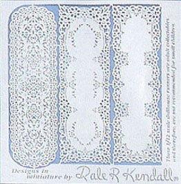 DOLLHOUSE Paper Lace Table Runners jk300 Jeannetta Kendall laser cut Miniature