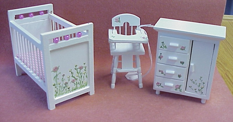 Dollhouse Hand Painted Furniture in 1