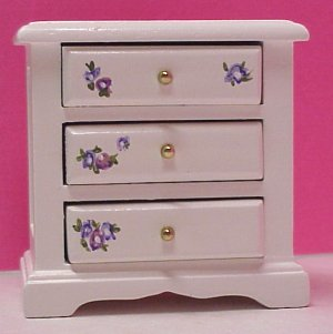 dollhouse hand painted bedroom furniture in 1 scale from fingertip