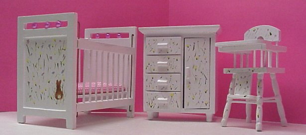 Dollhouse Hand Painted Nursery Furniture In 1 Scale Page 2