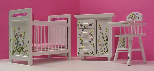 Dollhouse Hand Painted Nursery Furniture In 1 Scale Page