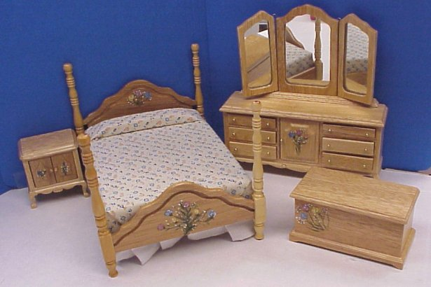 Dollhouse Hand Painted Bedroom Furniture In 1 Quot Scale From