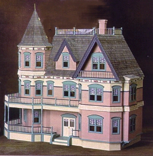 Real good toys dollhouse queen anne from fingertip for Victorian style kit homes
