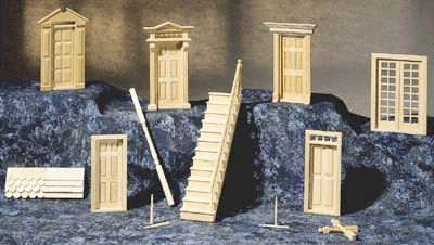 halfinchdoors.jpg (27487 bytes) & Dollhouse Doors 1/2\