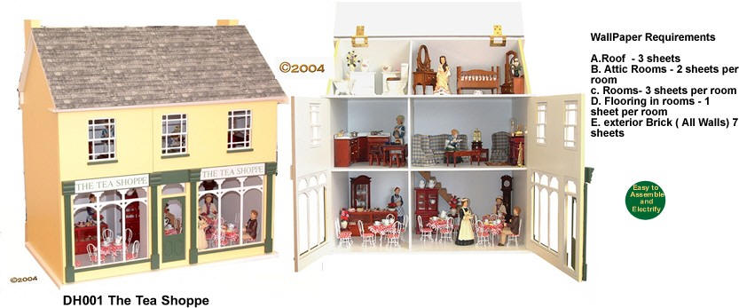 By The Olde English Dollhouse Company Dollhouses And Dollhouse Kits From  FINGERTIP FANTASIES Dollhouse Miniatures