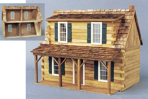 Real Good Toys Log Cabin Dollhouses From Fingertip