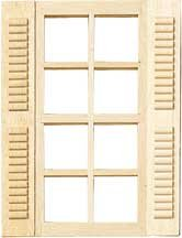 Dollhouse Windows In 1 2 Scale Half Inch Scale From Fingertip