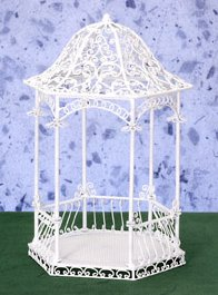 White Wire Gazebos Amp Trellis Furniture 1 12 Scale Page 11 From Fingertip Fantasies Dollhouse